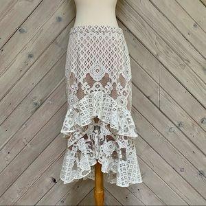 Chelsea28 Lace Ruffle Skirt